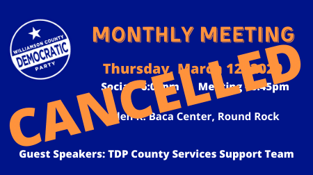 WCDP EC MEETING IS CANCELLED