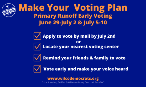 Primary Runoff Early Voting Info