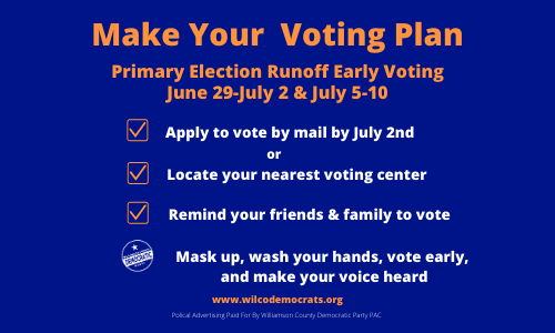 Stay Safe and Vote Early!