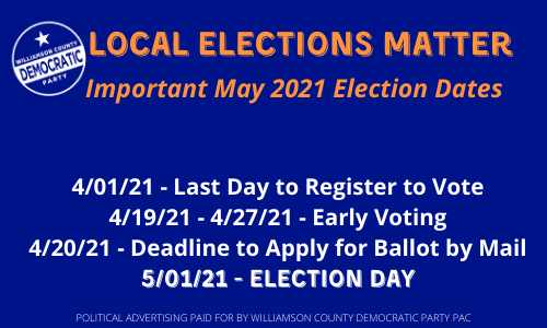 Important May Election Dates